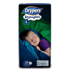 Drypers Drynights size L (9-14kg)