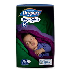 Drypers Drynights size  M (6-11kg)