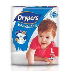 Drypers Wee Wee Dry Size L (Exclusive Singapore Pack)