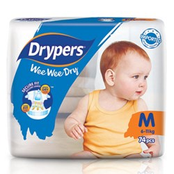 Drypers Wee Wee Dry Size M (Exclusive Singapore Pack)