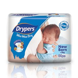 Drypers Wee Wee Dry Newborn (Exclusive Singapore Pack)