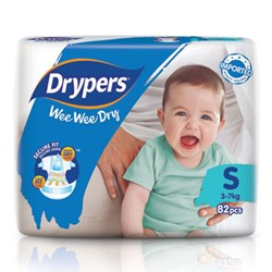 Drypers Wee Wee Dry Size S (Exclusive Singapore Pack)